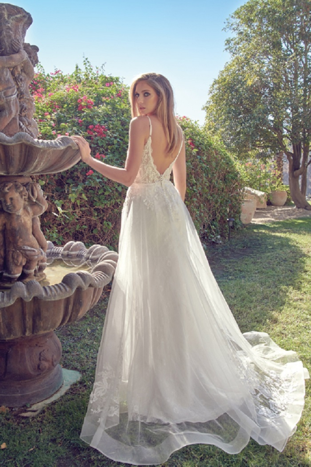 Juliet Off White Lace Bridal Gown - Front Full Image