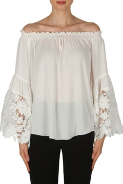 Shoptiques Product: Off-White Lace Sleeve