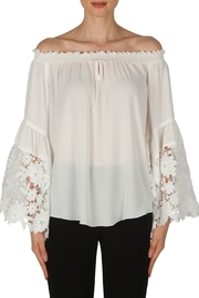 Joseph Ribkoff Off-White Lace Sleeve - Product Mini Image