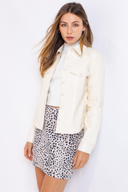 Le Lis Off-White Leather Jacket - Product Mini Image