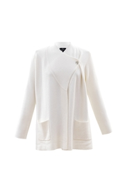 Marble Off White One Button Crossover Cardigan - Product Mini Image