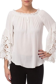 Joseph Ribkoff Off-white peasant top with bell sleeves - Product Mini Image