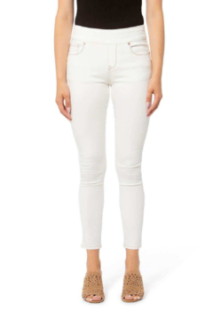 Lola Jeans Off White Pull On Jeans - Product List Image