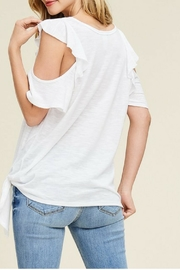 White Birch Off-White Ruffle Top - Side cropped