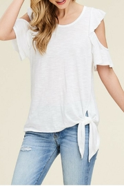 White Birch Off-White Ruffle Top - Product Mini Image