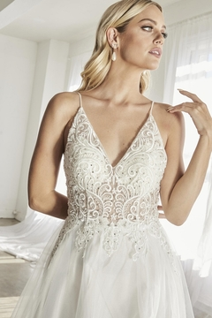 Cinderella Divine Off White Scroll Lace A-Line Bridal Gown - Alternate List Image