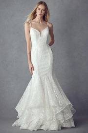 Juliet Off White Sequin Mermaid Bridal Gown - Front cropped