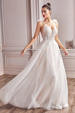 Shoptiques Product: Off White Shimmering Lace A-Line Bridal Gown