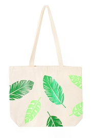 Off Duty NYC Leaf Print Tote - Product Mini Image