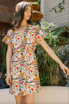 Thml Office Print Dress - Product List Image