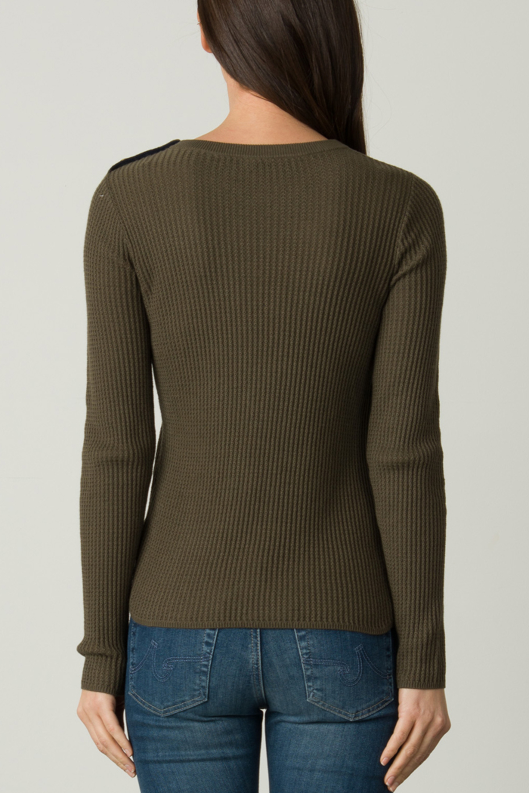 Margaret O'Leary OFFICER BUTTON PULLOVER - Side Cropped Image