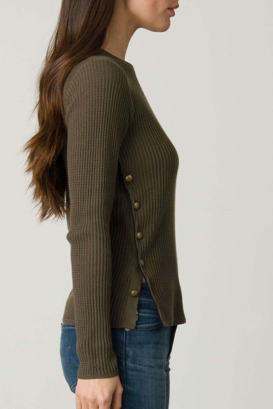 Margaret O'Leary OFFICER BUTTON PULLOVER - Front Full Image