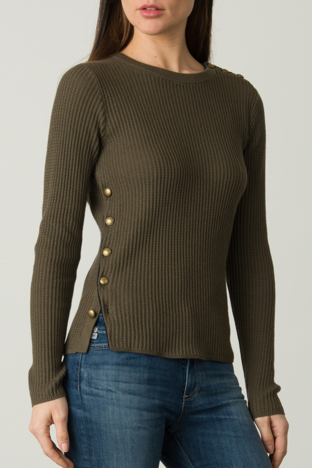 Margaret O'Leary OFFICER BUTTON PULLOVER - Main Image