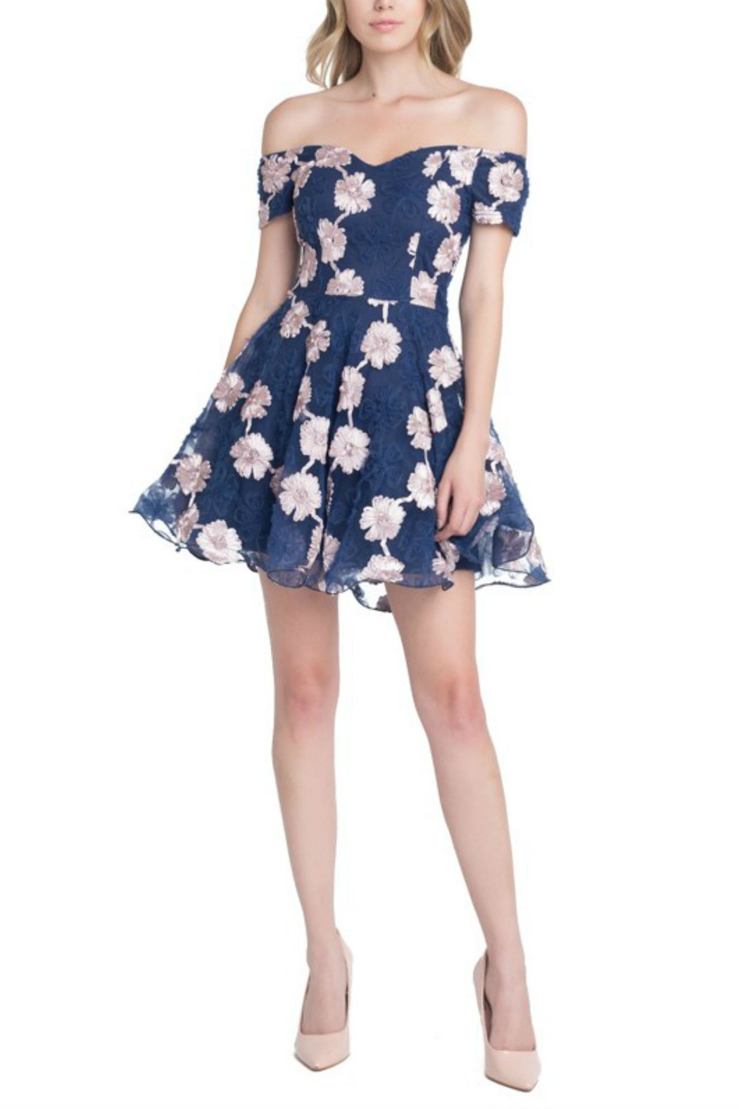 Ricarica Offshoulder Embroiderydress - Main Image