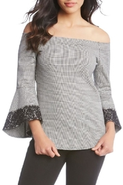 Karen Kane Offshoulder Houndstooth Top - Product Mini Image