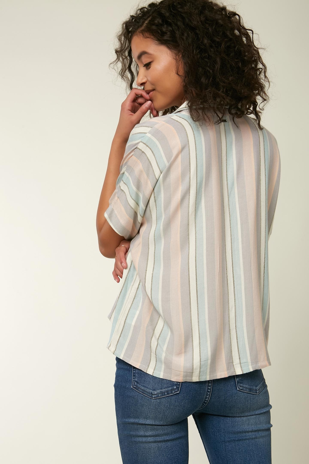 O'Neill Ogier Stripe Button Down - Side Cropped Image