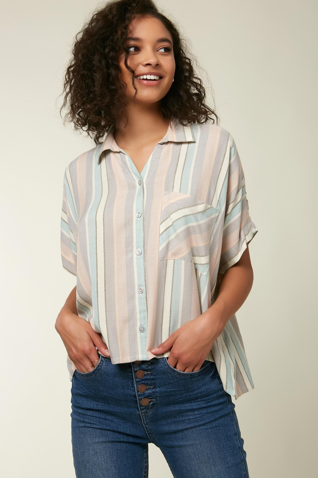 O'Neill Ogier Stripe Button Down - Front Full Image