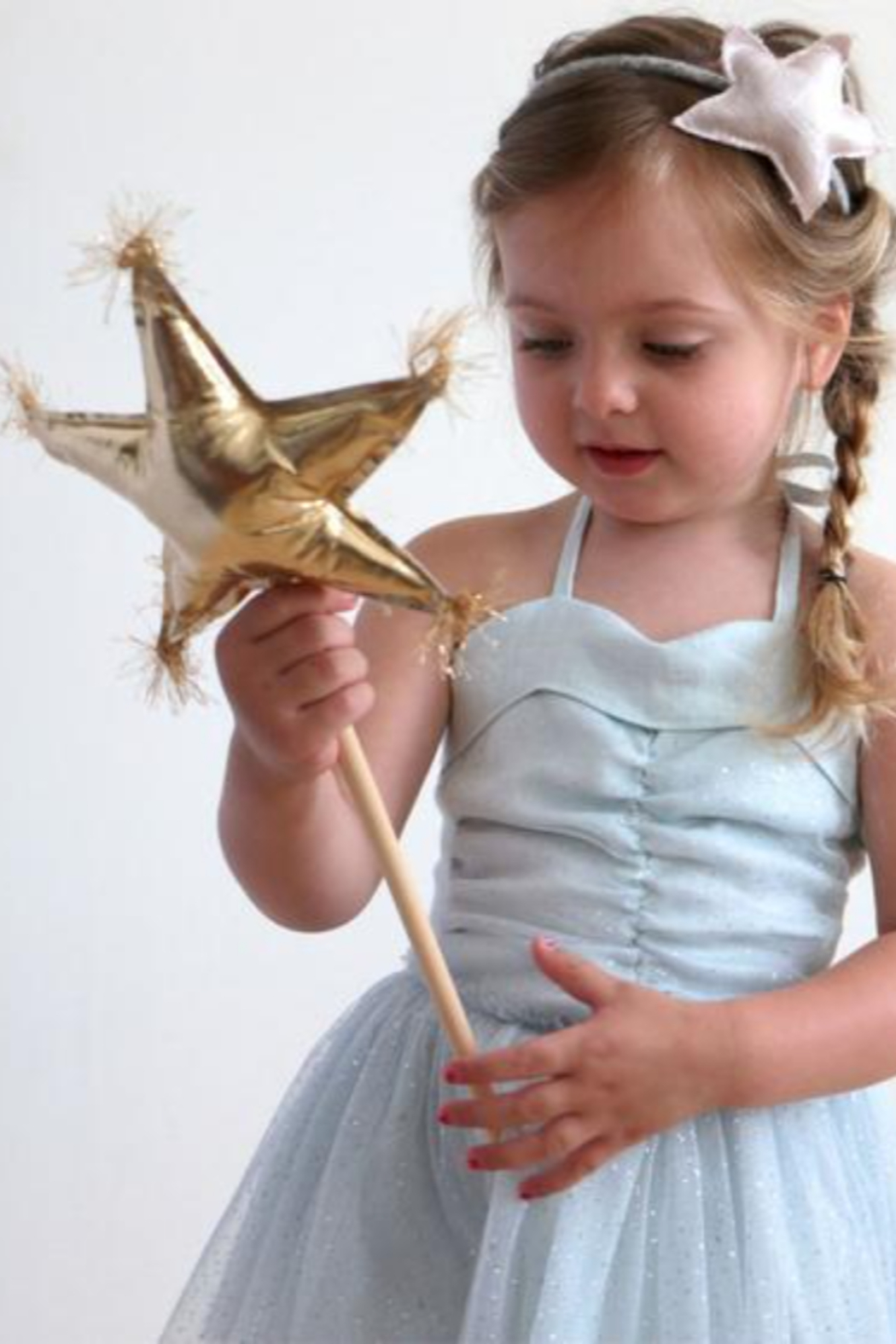 Oh Baby ! Metallic Star Wand - Front Full Image