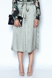 OH MY LOVE Callicarpa Satin Culottes - Front cropped