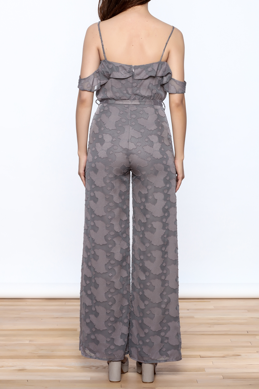 OH MY LOVE Lathyrus Frill Jumpsuit - Back Cropped Image