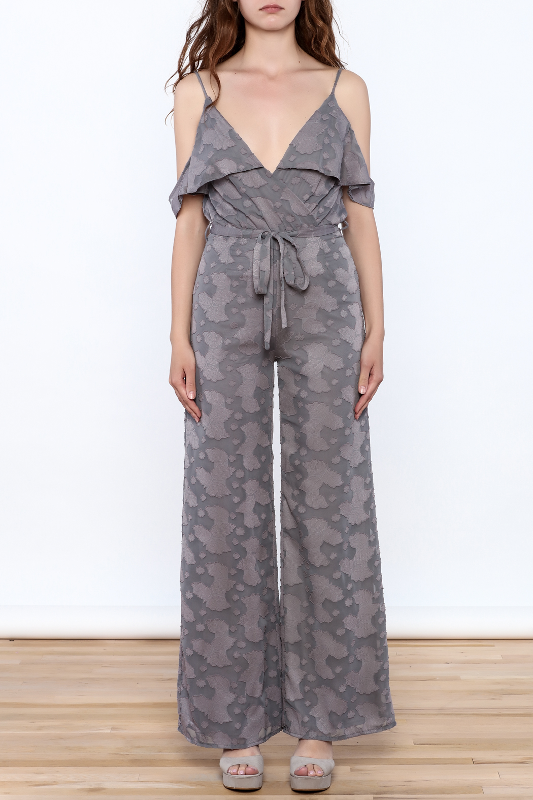 OH MY LOVE Lathyrus Frill Jumpsuit - Front Cropped Image