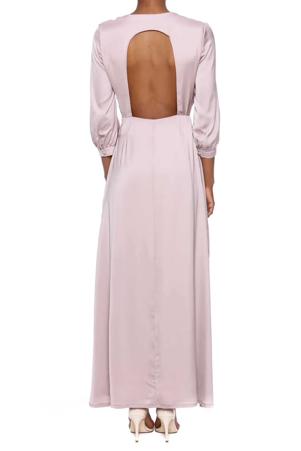 OH MY LOVE Tea Maxi Dress - Back Cropped Image