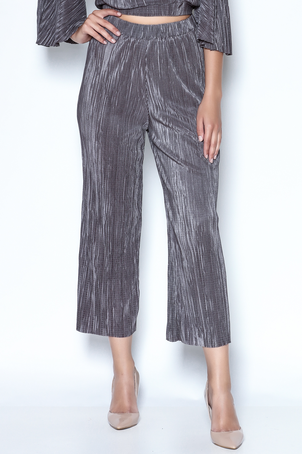 OH MY LOVE Tulbaghia Pleat Culottes - Main Image
