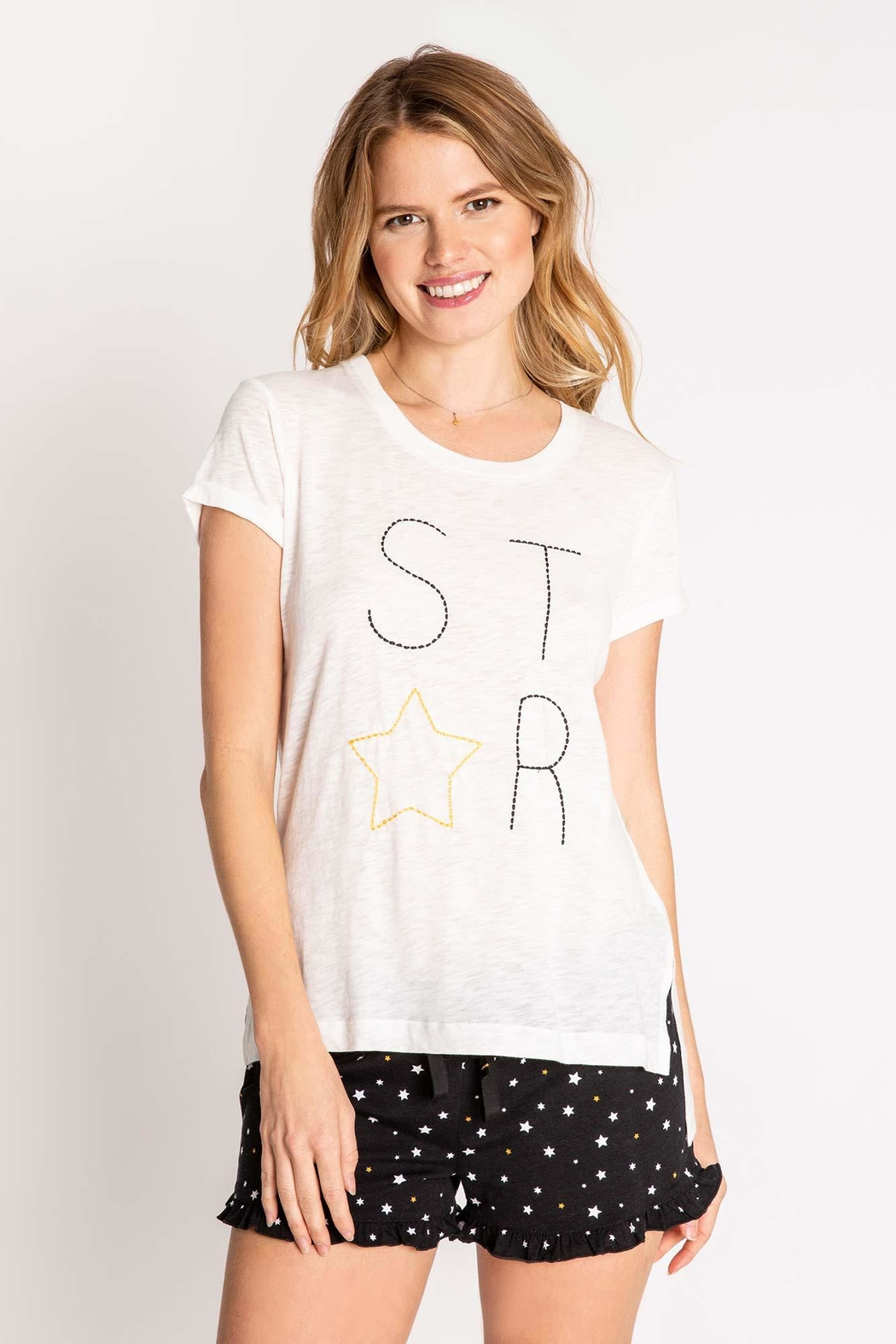 PJ Salvage Oh-My-Stars Embroidered Top - Main Image