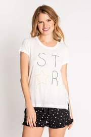 PJ Salvage Oh-My-Stars Embroidered Top - Front cropped