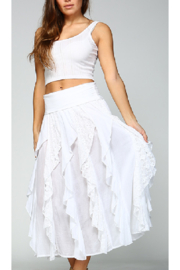 Apparel Love RUFFLED LONG WHITE SKIRT - Product Mini Image