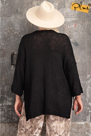 easel  Oh Sweet Knit Pullover Black Sweater - Other
