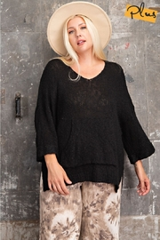easel  Oh Sweet Knit Pullover Black Sweater - Side cropped