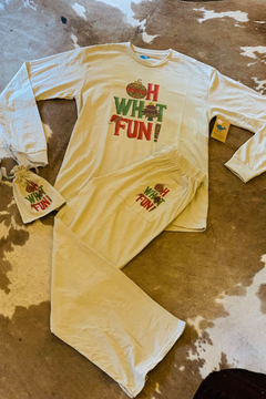 Lucky Bird Clothing CO. Oh What Fun Tee & Lounge Pants - Alternate List Image
