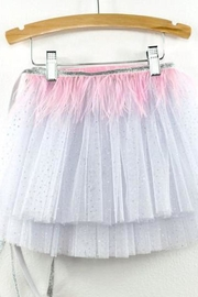 Oh Baby Feather Tutu Topper - Front full body