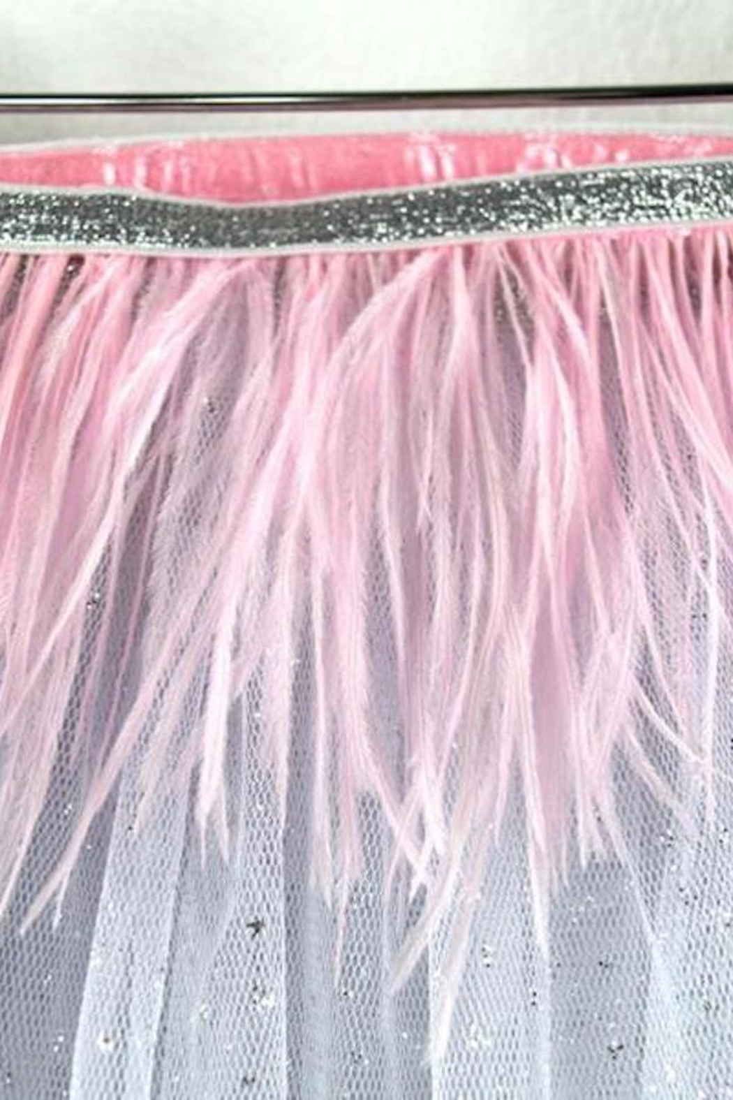 Oh Baby Feather Tutu Topper - Side Cropped Image