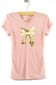 Oh Baby Foil Bow Tee - Front cropped