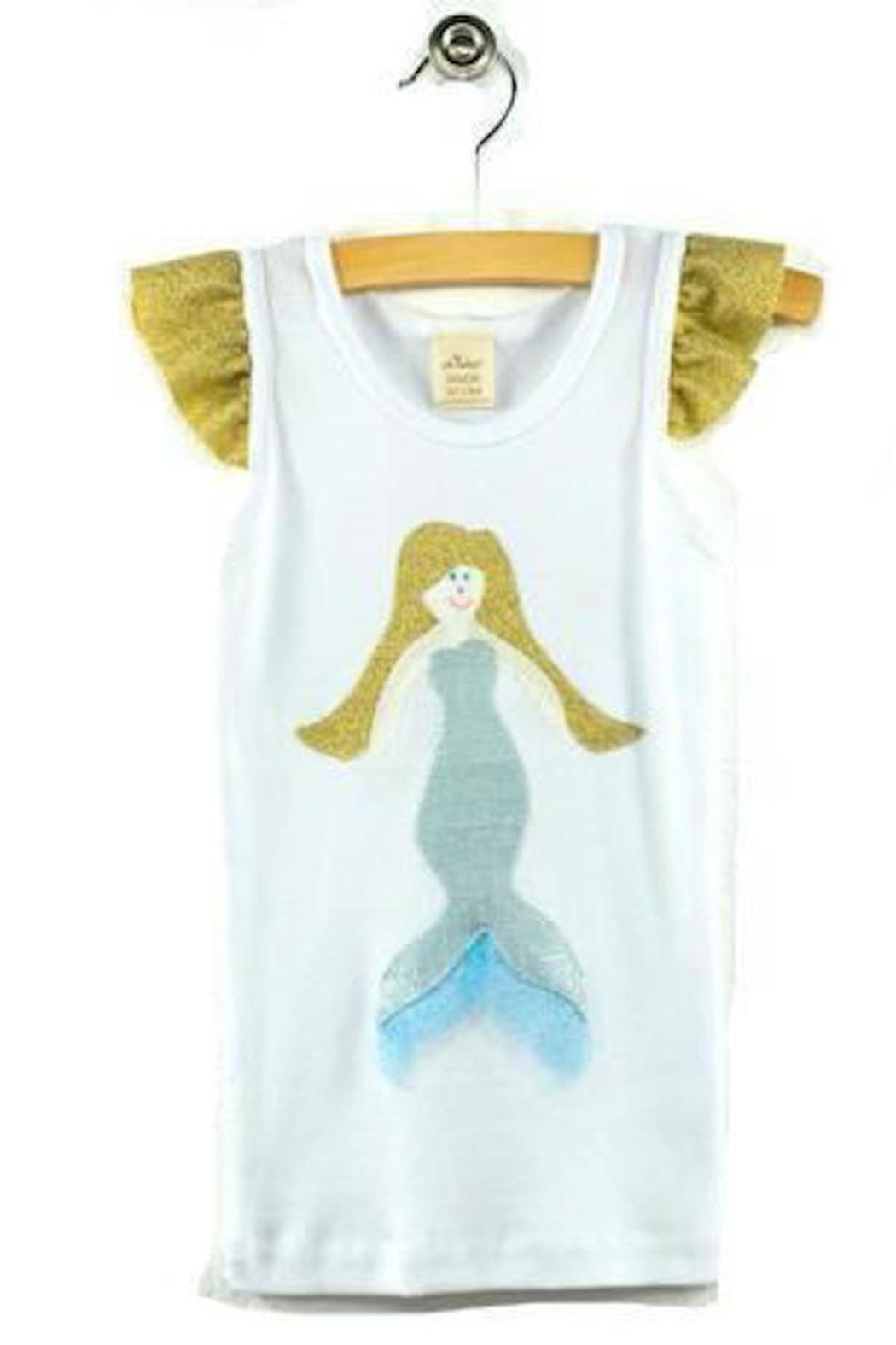Oh Baby Shimmer Mermaid Tank - Front Cropped Image