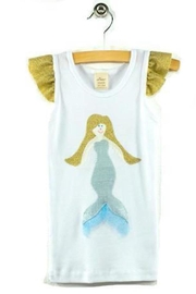 Oh Baby Shimmer Mermaid Tank - Front cropped