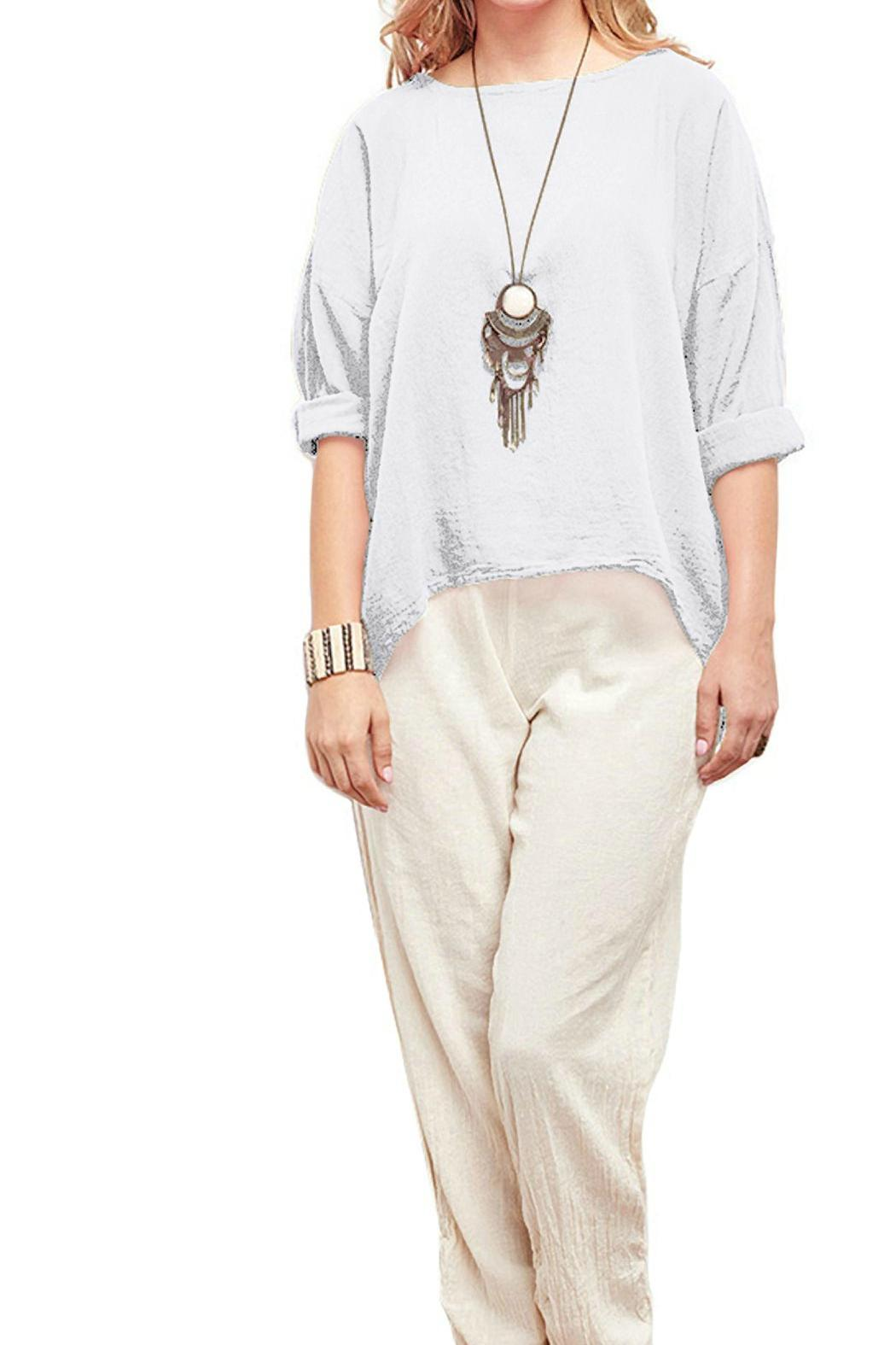 Oh My Gauze Abby Blouse - Front Cropped Image