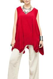 Oh My Gauze Red Feather Blouse - Product Mini Image