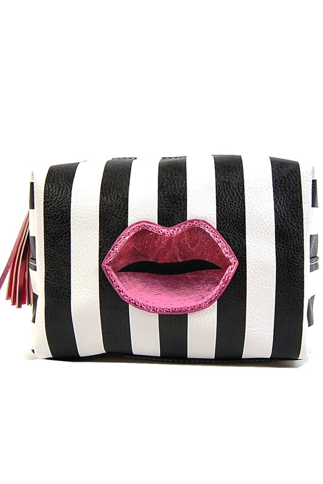 OH MY LOVE Stripe Lips Makeup-Bag - Main Image