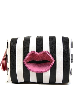 Shoptiques Product: Stripe Lips Makeup-Bag