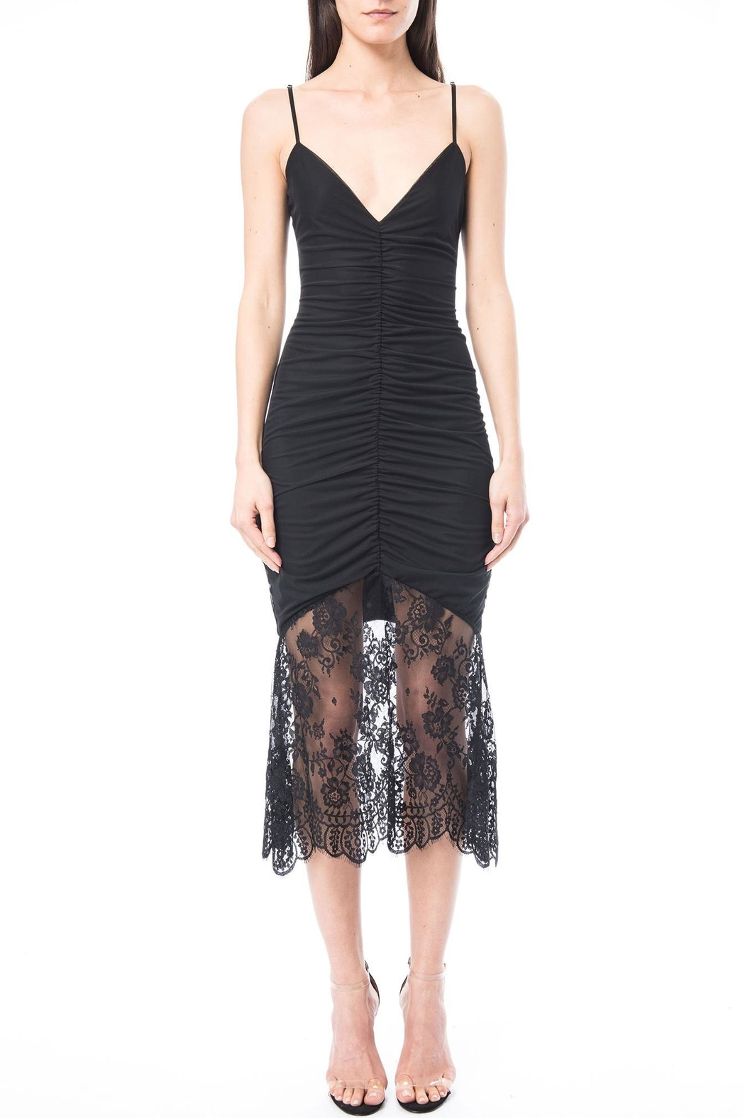 Cami NYC Ohanna Mesh Dress - Front Cropped Image