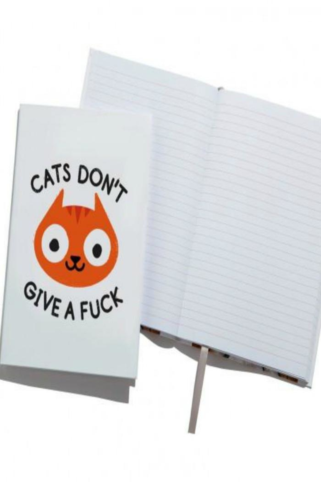 Ohh Deer Bad Cat Notebook - Front Cropped Image