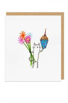 Shoptiques Product: Cat Birthday Card