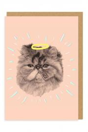 Ohh Deer Halo Cat Card - Product Mini Image