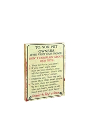 Ohio Wholesale Non Pet People Sign - Front cropped