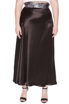 Shoptiques Product: Black Satin Maxiskirt