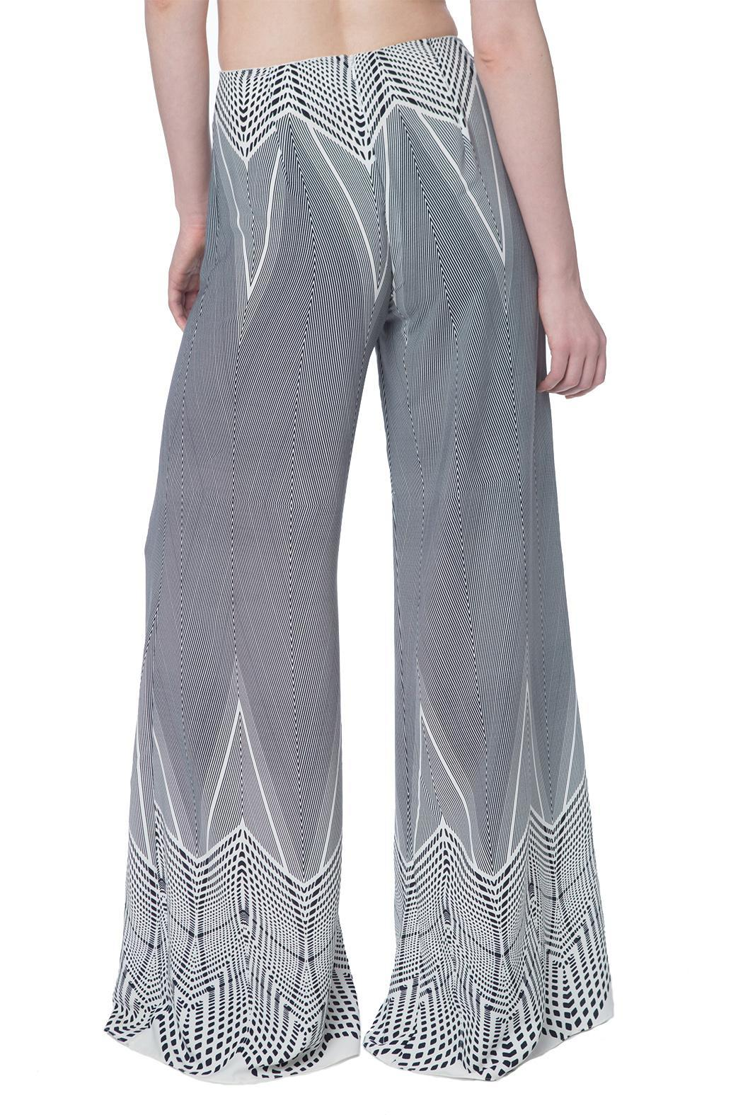 OHLENDORF atelier Graphic Palazzo Pant - Side Cropped Image