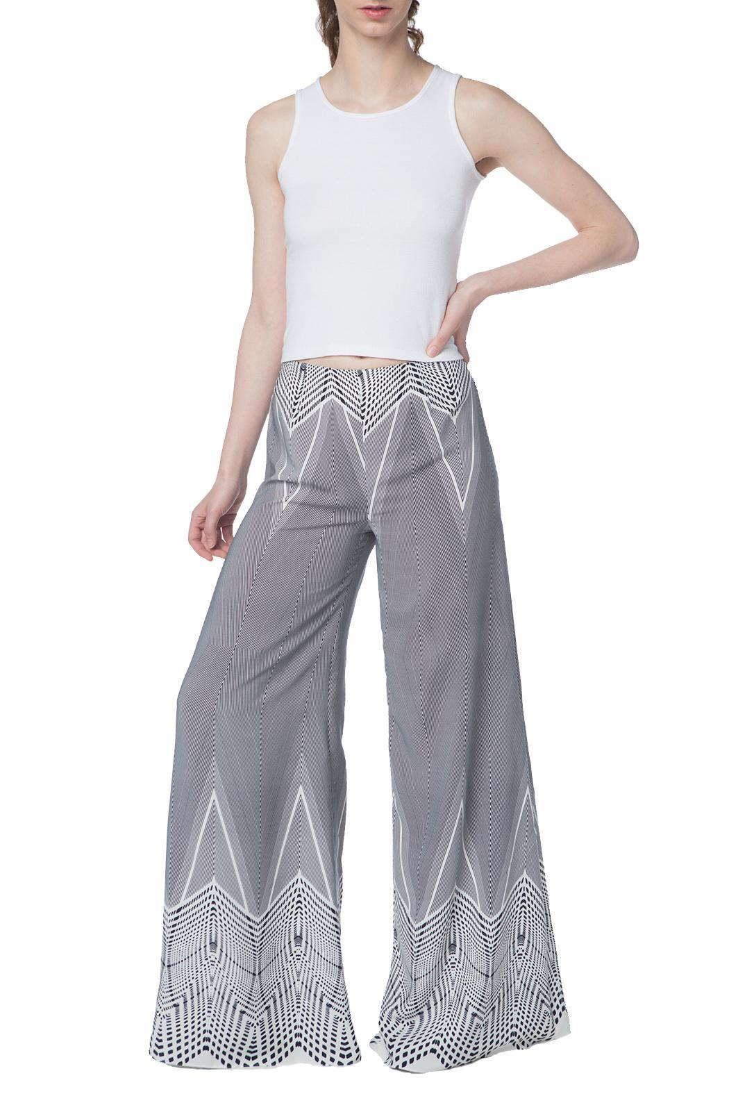 OHLENDORF atelier Graphic Palazzo Pant - Main Image
